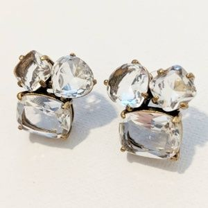 J. Crew Cluster Stone Earrings